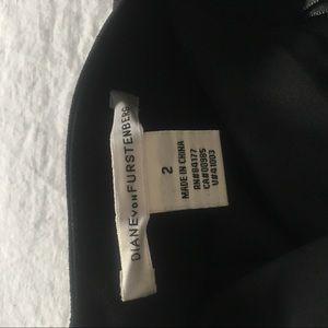 Diane Von Furstenberg Dresses - DVF black draped Work office formal dress